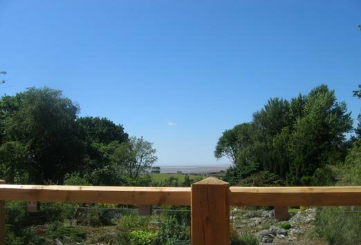 Panoramic views across Morecambe Bay from Kayes Tea Room.